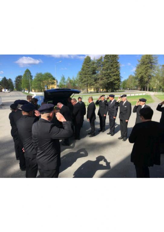 Kunniavartio pitäaikaisen jäsenemme muistoakunnioittaen