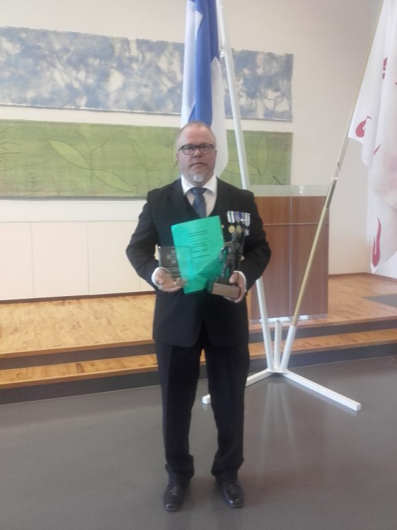 Pohjois-Pohjanmaan vuoden reserviläinen Jarmo Käkelä